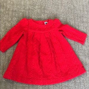 Janie and Jack Red Dress, Sz 6-12 months